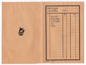 HAPAG Schiffs-Photograph MS Caribia Hamburg-Amerika Linie - OVP/Kuvert/Mappe/Fototasche aus dünner Pappe für Fotos. Vermutlich aus den 1930er Jahren. Randhinweis: fel 30 und. D. 3961