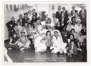 HAPAG Foto Kostümfest MS Caribia 10.06.1933 Baile de disfraces Fancy Dress Ball