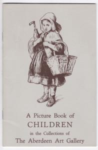 A Picture Book of CHILDREN in the Collections of The Aberdeen Art Gallery. May, 1950. Price: One Shilling and Sixpence. Zwei Seiten Text, restliche Seiten bebildert. ANBEI Faltblatt Aberdeen Art Gallery and Museum - William Crozier, Recent Drawings and Et