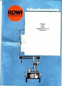 ROWI International mehrsprachige Gebrauchsanweisung TITELGERÄT - ist mittig gefaltet (wird auch so versendet) - ANBEI Heft mit 38 S., Titelgerät, mehrsprachig, ohne jegliche Hinweise auf Hersteller oder Verlag