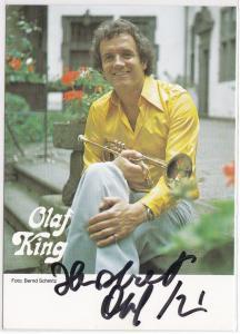 Autogrammkarte Olaf King signiert, Foto: Bernd Schmitz