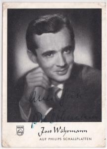 AK Autogrammkarte Jost Wöhrmann signiert, Philips Schallplatten ungelaufen