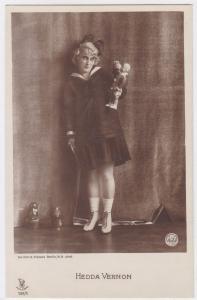 AK Hedda Vernon Puppe Puppen, Becker & Maass Berlin phot., ungelaufen