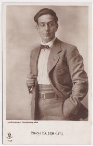 AK Erich Kaiser-Titz, phot. Joel-Heinzelmann Charlottenburg, ungelaufen