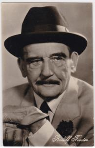 AK Autogrammkarte Rudolf Forster als Gallinger in Spielbank-Affäre ungelaufen