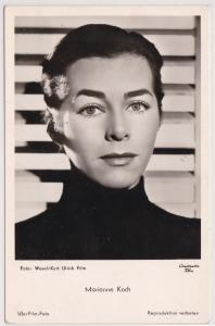 AK Autogrammkarte Marianne Koch in dem Kurt Ulrich Film Der Fuchs von Paris, ungelaufen