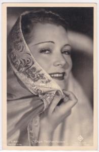 AK Autogrammkarte Olga Tschechowa ungelaufen
