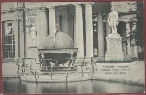 AK Potsdam Orangerie Denkmal Friedr. Wilh. IV, Globus aus Peking, 1907 gelaufen