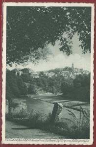 AK Kyllburg Eifel, Kurhotel und Pension Eifeler Hof, Besitzer Wilhelm Schulte, Luftkurort Kyllburg vom Malbergerweg aus, 1936 gelaufen