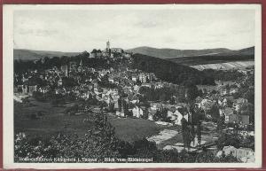 AK Königstein i. Taunus, Blick vom Hildatempel, 1938 gelaufen