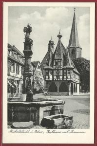 AK Michelstadt i. Odw., Rathaus mit Brunnen, ungelaufen