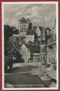 AK Oberndorf a. N. Schwarzwald, Blick auf Schulhaus, ungelaufen