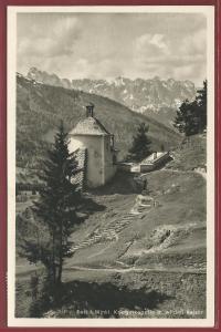 AK Reit i. Winkel, Kriegerkapelle m. wilden Kaiser, 1954 gelaufen