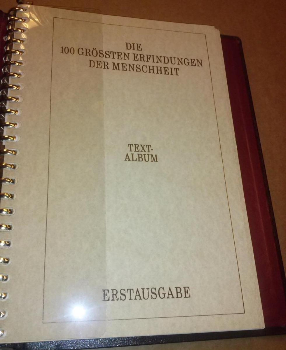 Die 100 grössten Erfindungen der Menschheit. Textalbum Text-Album - Erstausgabe 0