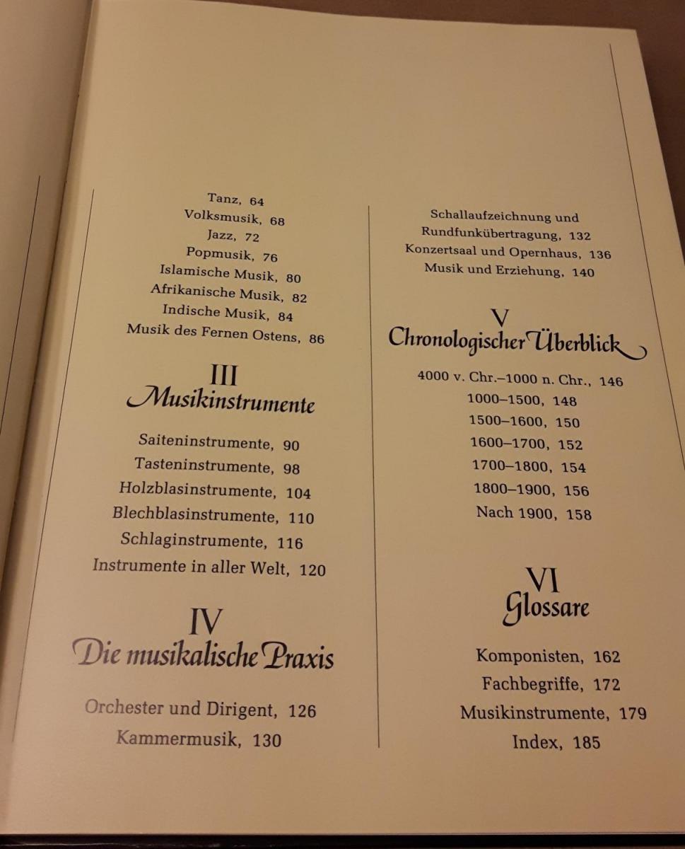 Das neue Buch der Musik - Herausgeber: Gill Rowley - Unter Mitarbeit von: Autorenkollektiv / Deutsche Fassung von Thomas M. Höpfner / Tessloff Sachbuch TS – Frontispiz: Die heilige Cäcilie an der Orgel. Glasfenster nach einem Entwurf von Burne-Jones (1... 3