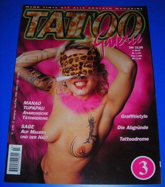 Tattoo Galerie Nr. 3/98 - 3. Jahrgang April/Mai 1998 - Mehr Tinte als alle anderen Magazine - Themen u.a. Manao Tupapau, Sage / ISSN 1123-9786 0