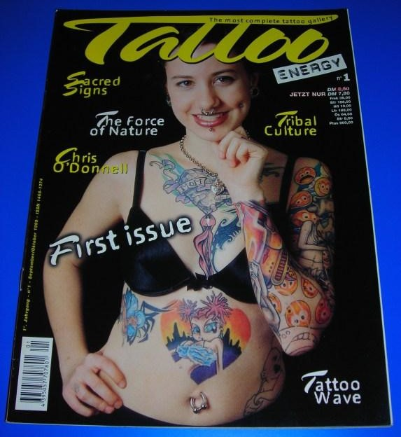 Tattoo Energy Nr. 1/98 - 1. Jahrgang September/Oktober 1999 - The most complete tattoo gallery - Themen u.a. Sacred Signs, Chris O'Donnell / ISSN 1468-1374 0
