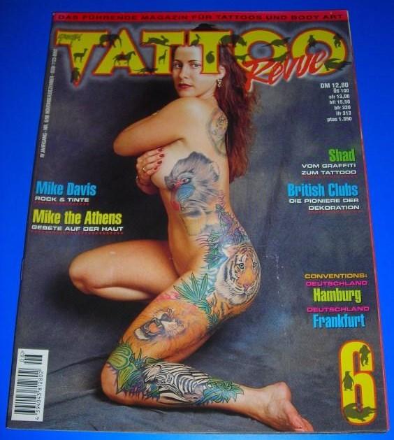 Tattoo Revue Nr. 6/98 - IV. Jahrgang November/Dezember 1998 - Das führende Magazin für Tattoos und Body Art - Themen u.a. Mike Davis, Mike the Athens, Shad / ISSN 1123-8992 0