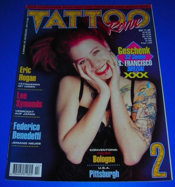 Tattoo Revue Nr. 2/98 - IV. Jahrgang März/April 1998 - Das führende Magazin für Tattoos und Body Art - Themen u.a. Eric Hogan, Lee Symonds, Federico Benedetti / ISSN 1123-8992 0