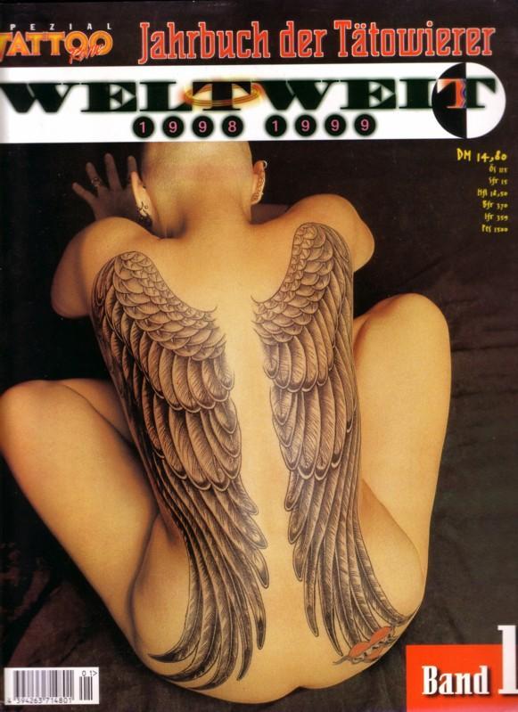 Tattoo Revue SPEZIAL - Band 1 - Jahrbuch der Tätowierer WELTWEIT 1998 1999 / Es werden weltweite Künstler mit ihren Arbeiten (Fotos + Adresse) vorgestellt. Kein Text, nur Fotos!!! 0
