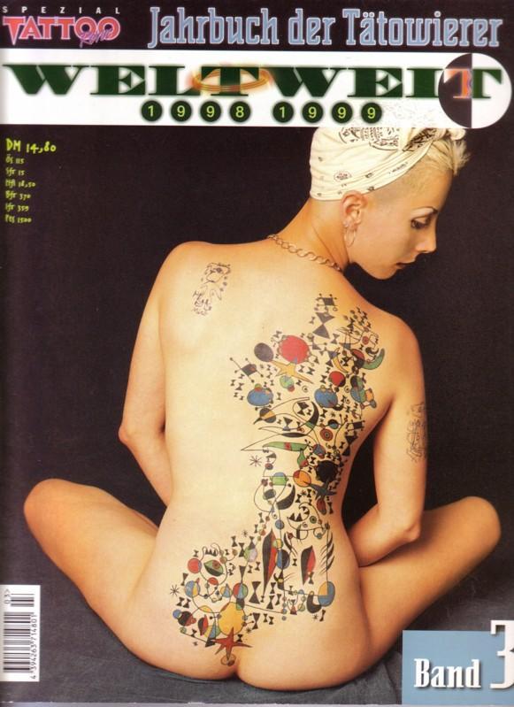 Tattoo Revue SPEZIAL - Band 3 - Jahrbuch der Tätowierer WELTWEIT 1998 1999 / Es werden weltweite Künstler mit ihren Arbeiten (Fotos + Adresse) vorgestellt. Kein Text, nur Fotos!!! 0