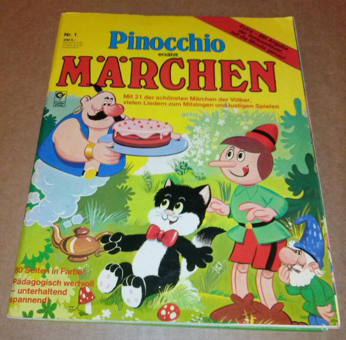 Pinocchio erzählt Märchen. Mit 21 der schönsten Märchen der Völker, vielen Liedern zum Mitsingen und lustigen Spielen. Nr. 1 / Extra - Mit Angabe der Vorlesedauer, auf die Minute genau! // 80 Seiten in Farbe! Pädagogisch wertvoll - unterhaltend spannen... 0