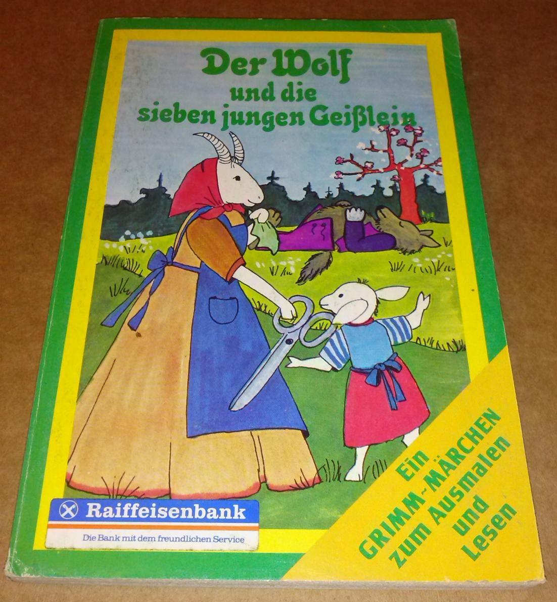 Der Wolf und die sieben jungen Geißlein - Ein GRIMM-MÄRCHEN zum Ausmalen und Lesen - Raiffeisenbank. Die Bank mit dem freundlichen Service // innen nichts ausgemalt 0