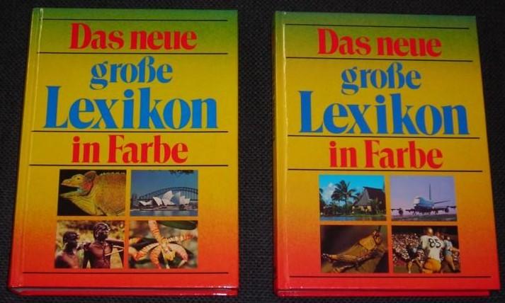 Das neue große Lexikon in Farbe - 2 Bände / 2 Bücher - A bis J [A-J] und K bis Z [K-Z] // neu bearbeitet Odo Walther 0