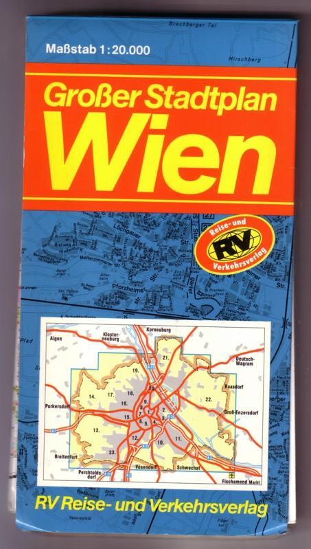 Großer Stadtplan Wien - 1:20000 - freytag&berndt Gesamtplan von Wien 1:25000 (tatsächlich 2x unterschiedlicher Maßstab angegeben!) 0