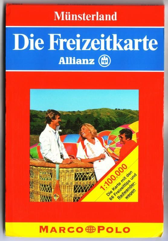 Marco Polo Die Freizeitkarte Münsterland Allianz - 1:100000 - Die Karte mit den 66 Freizeittips und Radwanderwegen 0