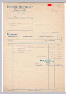 Rechnung Joachim Thormeyer, Rudolf Laumann Nachf., Großhandlung in Seifen, kosmetischen und verwandten Artikeln, Seife, Köthen Anhalt 1944