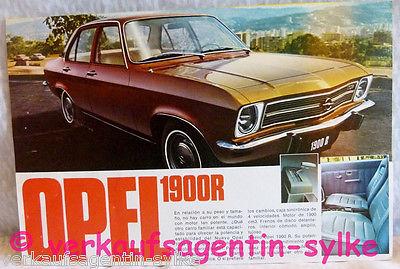 477: Opel 1900R + RS von 1971 - Prospekt, Automobilia, Broschüre, Autos, Heft 0