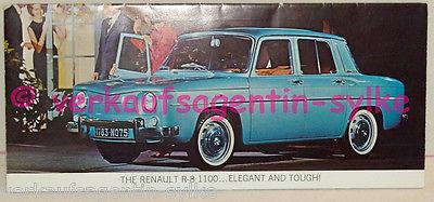 148: Renault R-8 1100 - Broschüre, Prospekt, Automobilia, Falt-Prospekt, Heft