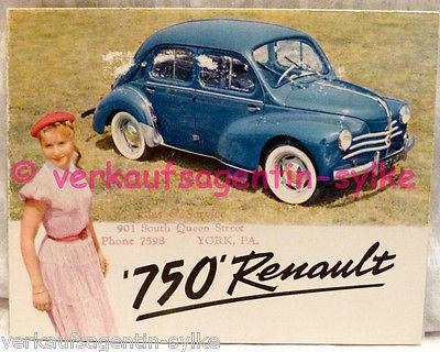 130: Renault 750 - Flyer, Broschüre, Prospekt, Automobilia, Falt-Prospekt, Heft