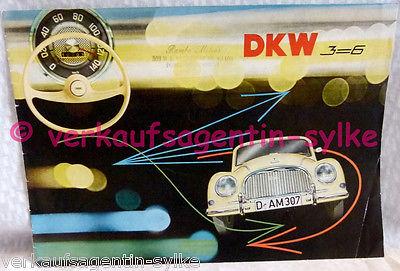 405: DKW 3=6 - Prospekt, Automobilia, Broschüre, Autoheft, Sammlerheft, Autos