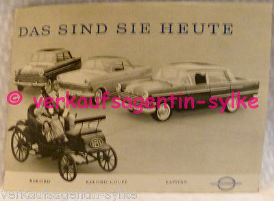 572: Opel Kapitän Rekord-Coupe - Auto Prospekt, Broschüre, Automobilia, Autoheft
