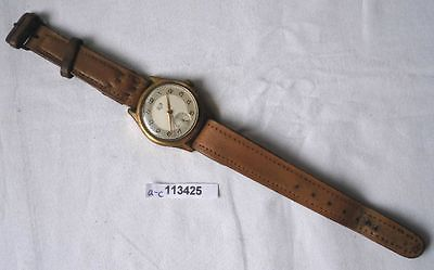Alte mechanische Glashütte Herren Armbanduhr um 1960 (113425)