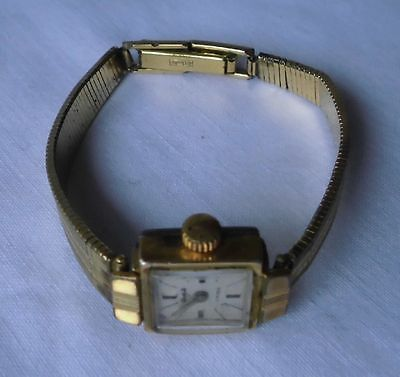 Alte mechanische Glashütte Damen Armbanduhr um 1960 (113559)