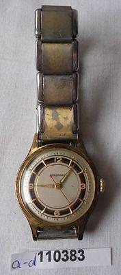 Alte vergoldete Vintage Herren Armbanduhr Marke Junghans  (110383)