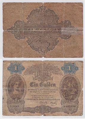 1 Gulden Banknote Großherzogtum Hessen 1.Juli 1865  (118830)
