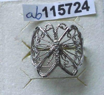 Filigraner Damenring 925er Silber Motiv Schmetterling (115724)