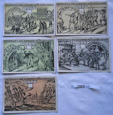 5 Banknoten Notgeld Rostocker Frühjahrswoche ohne Datum (1922) (116920)