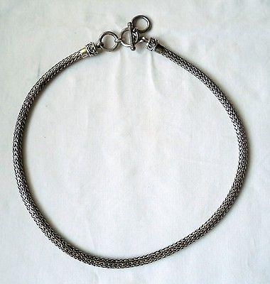 Außergewöhnliche dicke Kette Silber 925 BA SUARTI mit Knebelverschluß (111711)