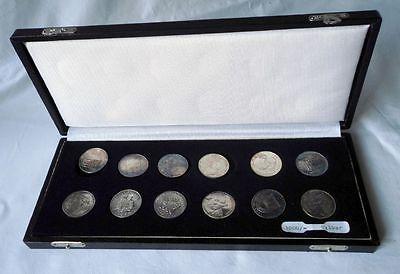 Etui mit 12 DDR Medaillen Feinsilber 450 Jahre Reformation 1967 (117576)