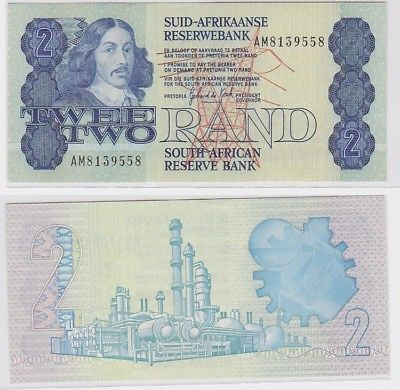 2 Rand Banknote South African Reserve Bank Südafrika  (123376)