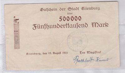 500000 Mark Banknote Inflation Stadt Eilenburg 15.08.1923 (118896)