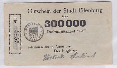 300000 Mark Banknote Inflation Stadt Eilenburg 15.08.1923 (118987)