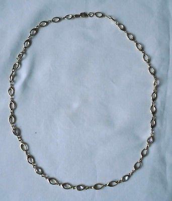Wunderbare Damen Halskette 333er Gold mit 5 kleinen Steinen (117936)