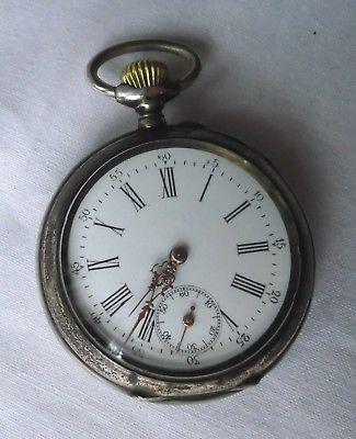 Dekorative Herren Taschenuhr 800er Silber um 1920 (119278)