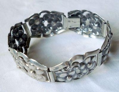Elegantes Armband 925er Silber mit Blütenmuster (112019)